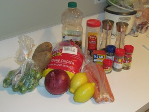 Roasted Chicken Ingredients